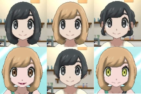 Pokemon Y Hairstyles And Colors: Female Hair, Eyes, And Lips Customization List [Pokemon