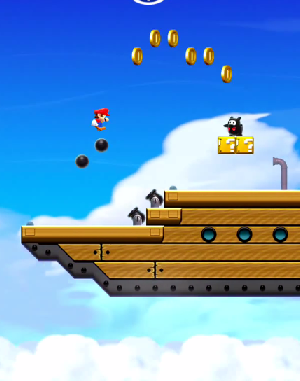 Gameplay Video Guide World 2-4: Airship Cannons    Fire