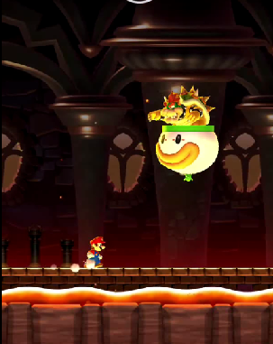 Super Mario Run iOS Bowser Boss Guide (Bowser appears on his floating pod)
