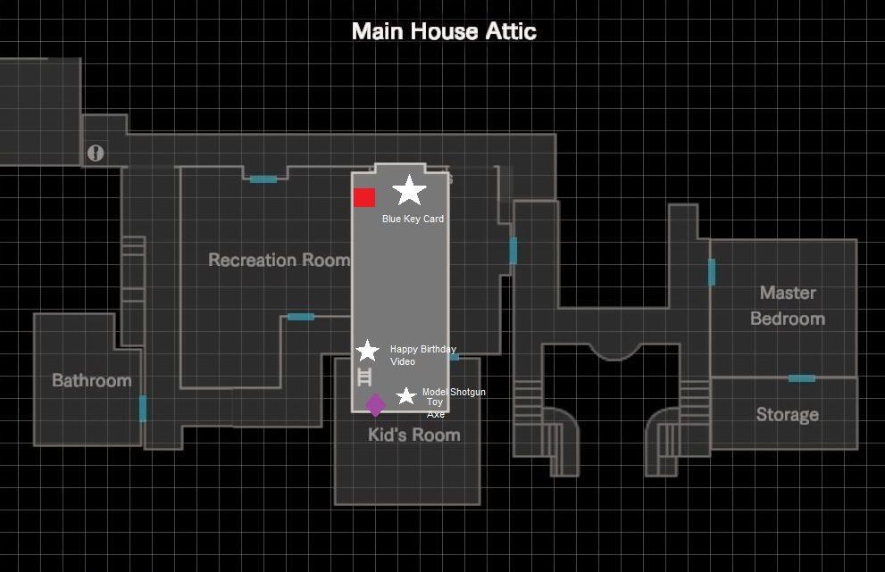 Main House Map [Resident Evil 7/RE7] - SAMURAI GAMERS
