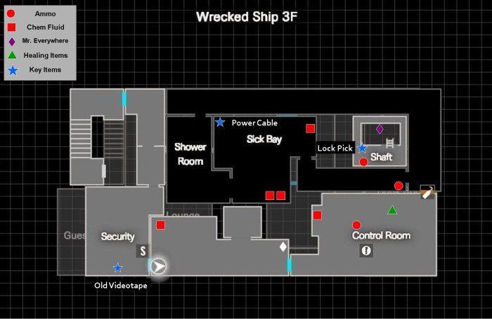 Wrecked Ship Map Resident Evil 7 Re7 Samurai Gamers