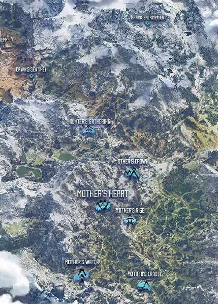 Horizon Zero Dawn Locations Guide Directory