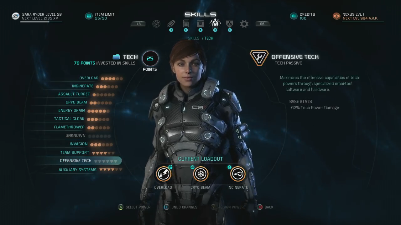 Tech Skills Mass Effect Andromeda Tech Skills